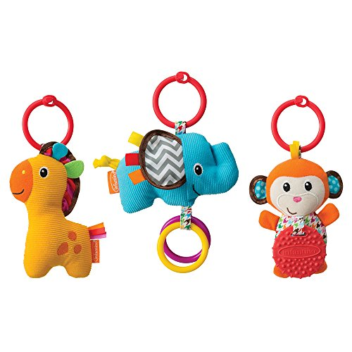 Infantino Tag Along Travel Pals (Toy Trio Baby)