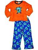Healthtex - Baby Boys Long Sleeve Monster Pajama Set, Nectarine Orange, Royal 33993-12Months