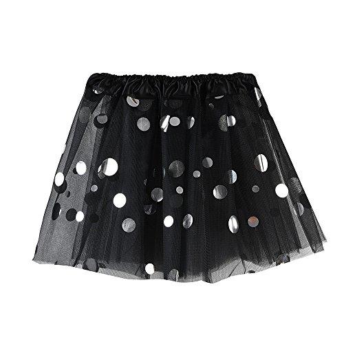 ea84fa8ed Girls Ballet Tutu Skirts Dancewear Polka-Dot Foil Tulle Skirt Dress  Costumes for Teen Girls
