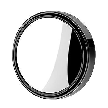 Retrovisor del Coche Espejo De La Zona Ciega Espejo Redondo PequeñO, áNgulo Invertido De 360 Grados Espejo Auxiliar Punto Ciego HD Espejo Auxiliar YZRCRK: ...