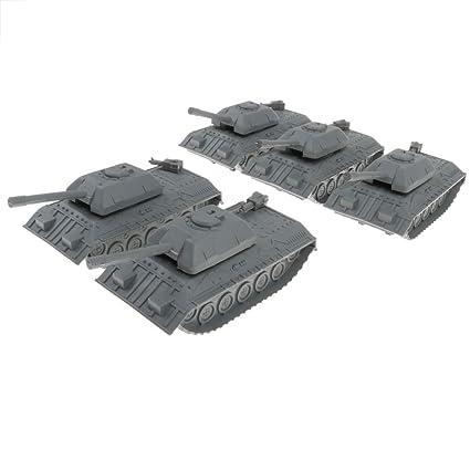 5 Pedazos Juguete de Tanque de Ejército Militar Realista ...