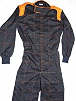One Layer, One piece 100% Cotton Auto Go Karts Racing Suit Box color Quilted