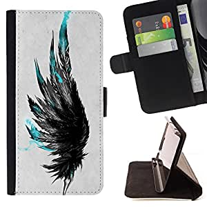 Jordan Colourful Shop - Blue Feathers For Apple Iphone 6 PLUS 5.5 - Leather Case Absorci???¡¯???€????€??????????&fn