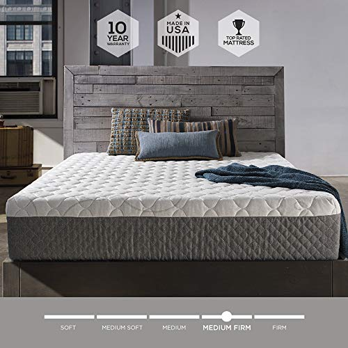 Sleep Innovations Taylor 12-inch Cooling Gel Memory Foam Mattress, Bed in a Box, Made in the USA, 10-Year Warranty - Queen Size