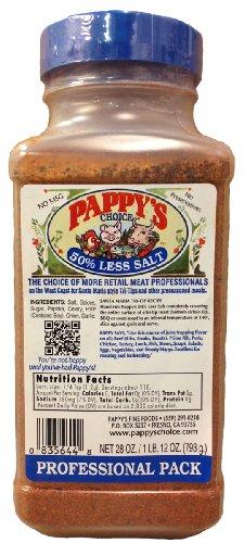 Pappy's Lower Salt Blue Label Choice Seasoning (28 Oz Professional Pack)