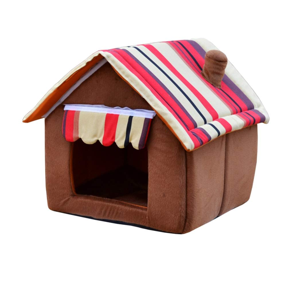 2 XlDog House, Soft and Warm Cotton Dog House Winter Removable and Washable Four Seasons Universal Small Medium Pet Nest House (color   1, Size   L)