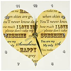 Amazon com: 3dRose dc_110495_1 You are My Sunshine Heart