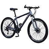 Adult Cruiser Bike 26in Bicycle Fashion Bike Carbon Steel Mountain Bike 21 Speed Bicycle Full Outdoor Bike Commute