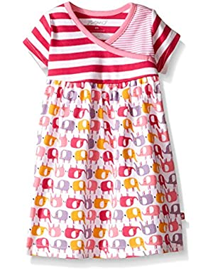 Baby Girls' Ellas Elephants S/Surplice Dress