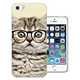 040 - Cool Geek Kitten Cat Reading Sunglasses Funny Design iphone SE - 2016 Fashion Trend CASE Gel Rubber Silicone All Edges Protection Case Cover
