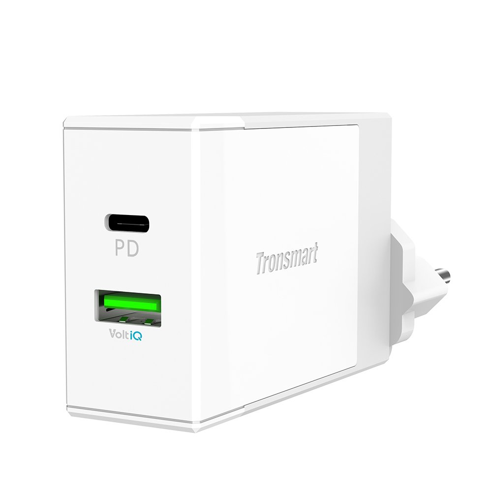 Tronsmart USB Type C Cargador de Red 42W Dual Puertos con PD (Power Delivery) para MacBook 2016, iPad Pro, Nexus 5X, Lumia 950XL, LG G5/G6, Google ...
