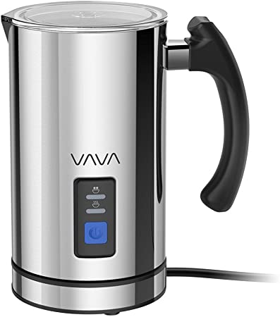 VAVA Milk Frother Electric Liquid Heater with Hot Milk Functionality, Stainless Steel Electric Milk Steamer for Latte, Cappuccino, Hot Chocolate FDA Approved