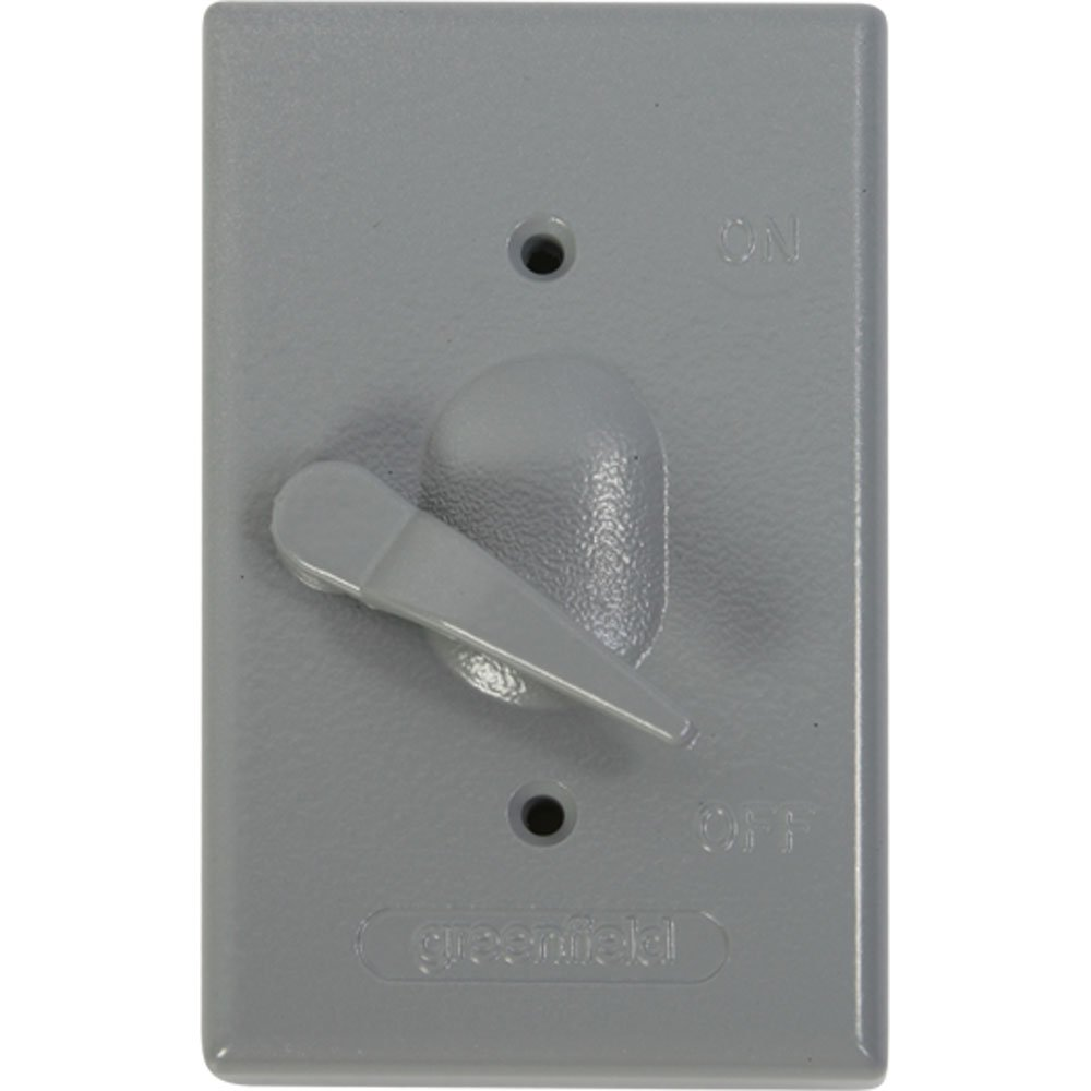 Made in USA Electrical Box Outlet Cover Gray