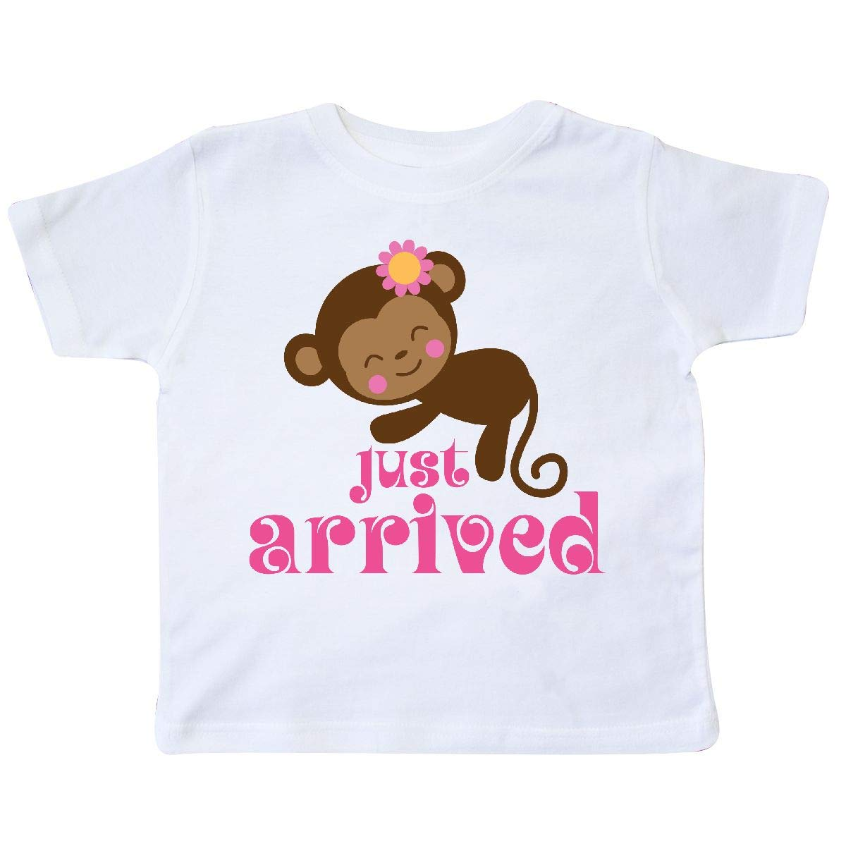 inktastic New Baby Girl Cute Monkey Toddler T-Shirt