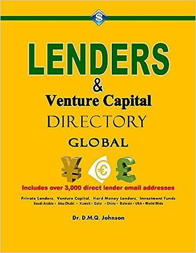 Book Lenders And Venture Capital Directory - Global: Volume 1 (Lenders Directory)
