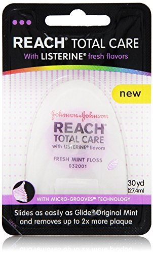 Reach Total Care floss with Listerine Fresh Flavors 30-Yard, (Pack of 12) by Reach (Image #1)