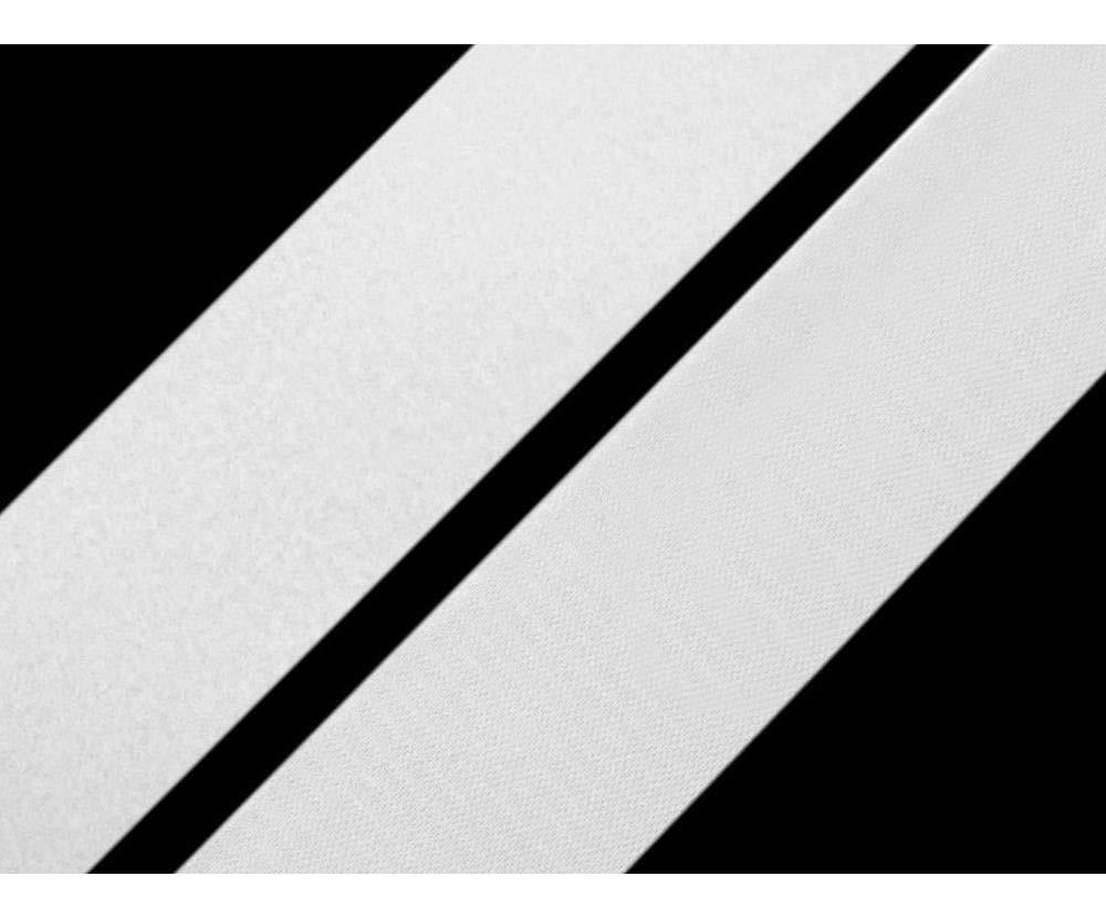 25m White Hook and Loop Fastener Width 38mm Black, Hook-and-Loop Fasteners, Haberdashery by Czech Beads Exclusive