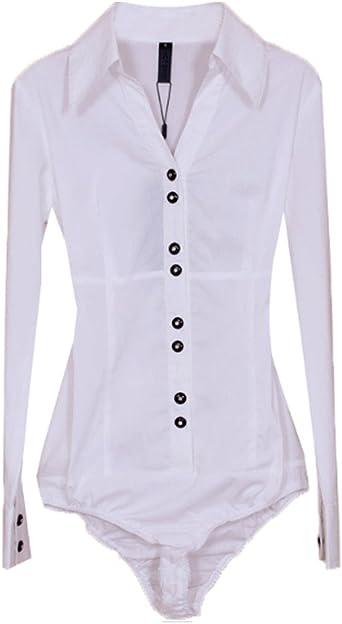 ZAMME Mujeres Camiseta de Manga Larga O Delgado Siameses Que Basa Body Blusa Superior: Amazon.es: Ropa y accesorios