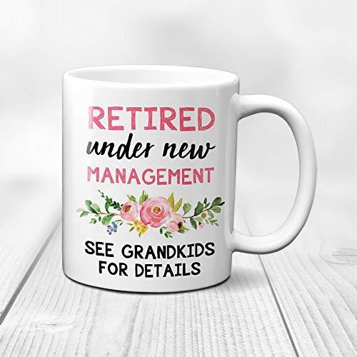 Retirement Mug | See Grandkids for Details | Retirement Gift for Women | Retirement Party Decor | Coworker Retirement | Retiree Gift | Boss Retirement