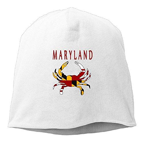 Jie Shikang Maryland Flag Crab Men & Women Unisex Soft Hat Skull Cap Beanie Hat Knit ()