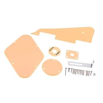 monkeyjack plástico Pickguard Cavidad + Cover + Tapa del interruptor selector de + placa + soporte Set para LP Guitarra eléctrica accesorios: Amazon.es: ...