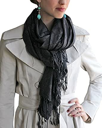 Women's Python Snake Skin Weave Oversize Fashion Scarf Wrap
