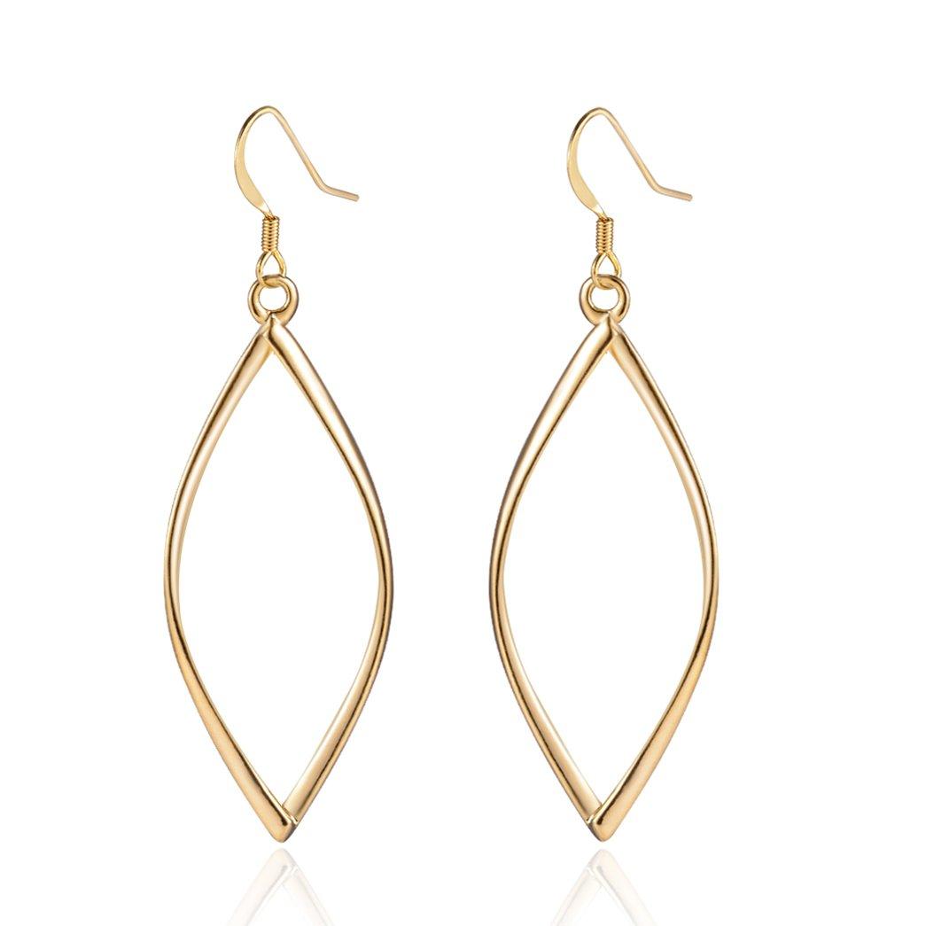 18K Gold Plated Infinity Hoop Dangle Earrings for Women Silver Hypoallergenic Drop Earring Gifts for Girls Girlfriend
