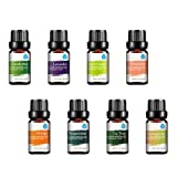 :Pursonic 100% Pure Essential Aromatherapy Oils Gift Set-8 Pack , 10ML Eucalyptus, Lavender, Lemongrass, Mandarin, Orange, Peppermint,Tea Tree & Wintergreen