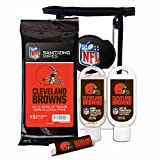 cleveland browns stadium seat - Worthy Promotional NFL Cleveland Browns 4-Piece Premium Gift Set with SPF 15 Lip Balm, Sanitizer, Wipes, Sunscreen