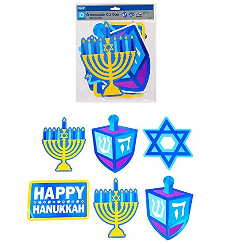 DD 6 Count Hanukkah Paper Cut-Outs(pack Of 48)