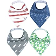 "Baby Bandana Drool Bibs for Drooling and Teething 4 Pack Gift Set For Boys ""Apollo Set  by Copper Pearl"