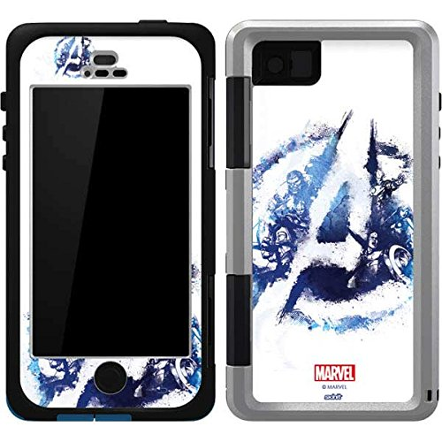 Skinit Avengers Blue Logo OtterBox Armor iPhone 5/5s/SE Skin for CASE - Officially Licensed Marvel/Disney Skin for Popular Cases Decal - Ultra Thin, Lightweight Vinyl Decal Protection (Marvel 5 Phone Iphone Case)