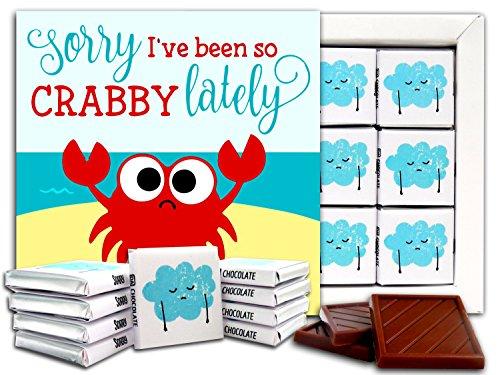 DA CHOCOLATE Candy Souvenir SORRY Chocolate Gift Set 5x5in 1 box (Crab)