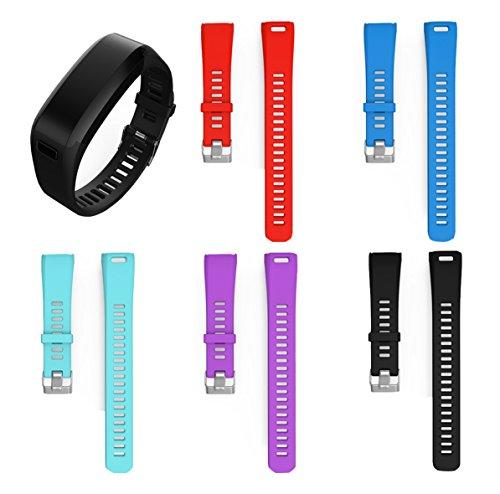 BeneStellar for Garmin Vivosmart HR Band, Replacement Soft Silicone Bracelet Sport Strap Wristband Accessory with Screwdriver for Garmin Vivosmart HR(No Tracker, Replacement Bands Only)