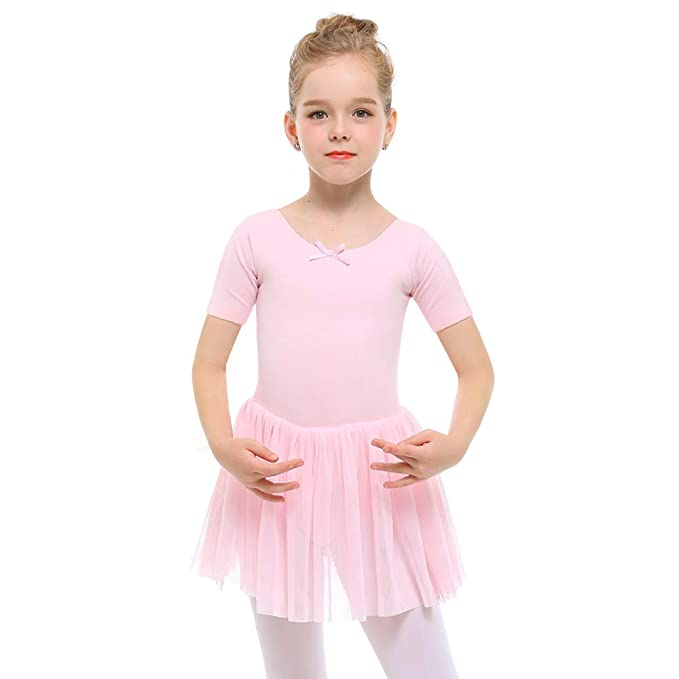 e4f53fa1e STELLE Girls Toddlers Short Sleeve Tutu Ballet Dress Leotard for Dance ( Ballet Pink, XXS