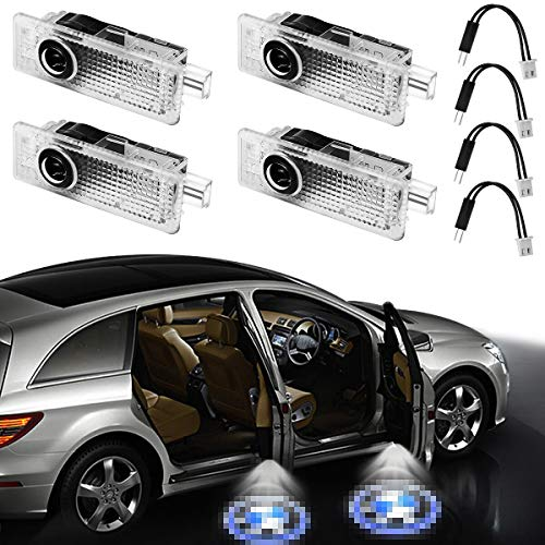 GANKING Car Door LED Logo Projector Ghost Shadow Welcome Lights Easy Installation for BMW Series (4 Pack)