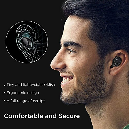 True Wireless Bluetooth Earbuds, ESR in-Ear Wireless Earphones Dynamic Graphene Drivers Portable Charging Case, Bluetooth 4.2 Earbuds iPhone, Samsung Android Phones by ESR (Image #2)