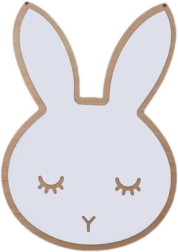 TOPBATHY Bunny 3D Mirror Wall Stickers Decal Acrylic Mirror for Baby Nursery Kids Room Bathroom Decor