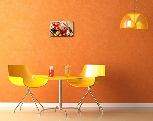 Inviting Warm Spicy Drink with Ingredients in Glass Cup Wall Decor