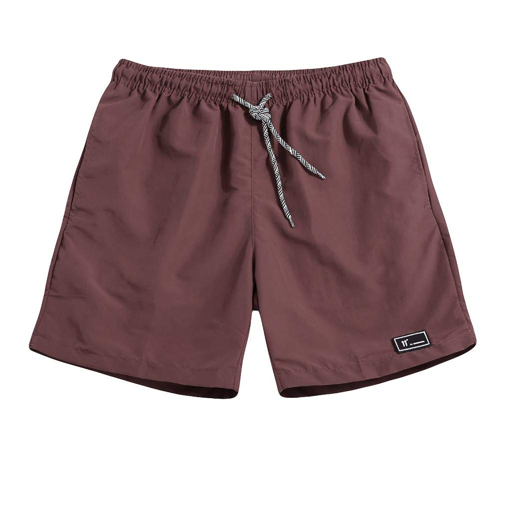 Men's Sports Runnning Swim Board Shorts Quick Dry Swim Trunks Bathing Suit Beach Shorts with Pocket