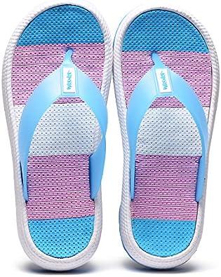 Damen Zehentrenner Sandalen Sommer Strand Flip Flops mit Plateau Sohle Gr.36-41
