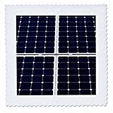 3dRose Alexis Photography - Objects - Dark blue solar power panel divided into four parts by white frames - 16x16 inch quilt square (qs_271345_6)