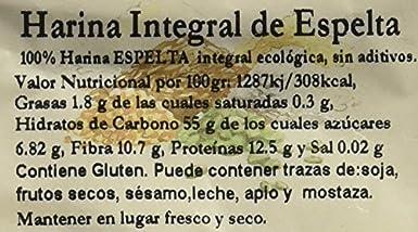 Bionsan Harina de Trigo Espelta Integral Ecológica | 6 Bolsas de 500 gr | Total: 3000 gr