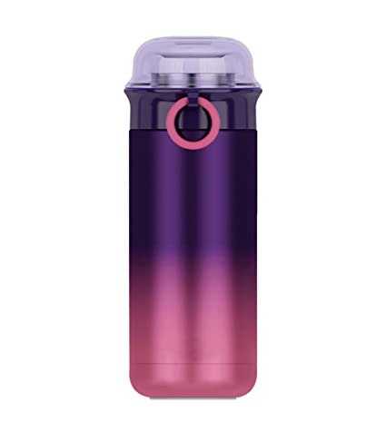 VLUNT Botella Térmica, Termo portátil, Aislamiento Botella Agua, BPA Gratis Botella Acero Inoxidable para Deportiva, Oficina, Hogar, Viaje - 350ml