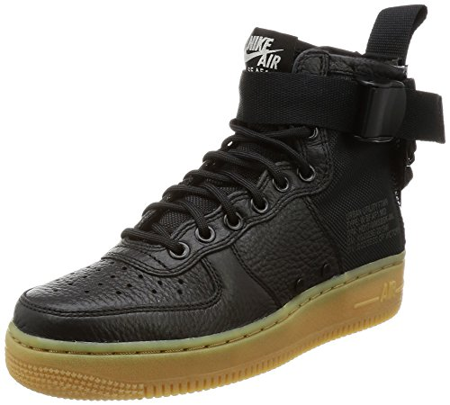AF1 gum Shoe Brown Basketball SF Women's Light Black Nike Mid Black 7ERHwxXq8