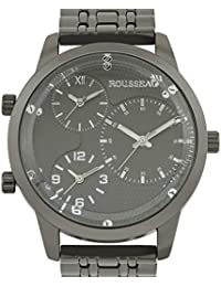 amazon com rousseau clothing shoes jewelry rousseau becker 3 time zone mens watch