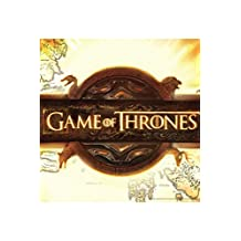 Game Of Thrones HBO Fantasy Drama Television TV Series Title Card Logo Map Light Poster - 18x12