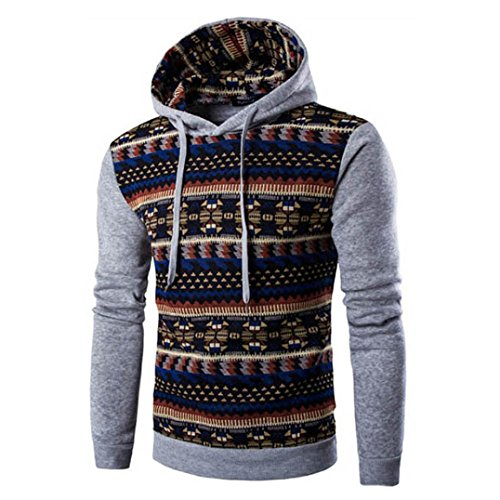 Men's Sweater,Neartime Retro Long Sleeve Hoodie Hooded Sweatshirt Men Jacket Coat Outerwear