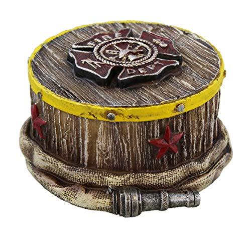 Montana West Fire Department Fireman Jewelry Ring Trinket Box ()