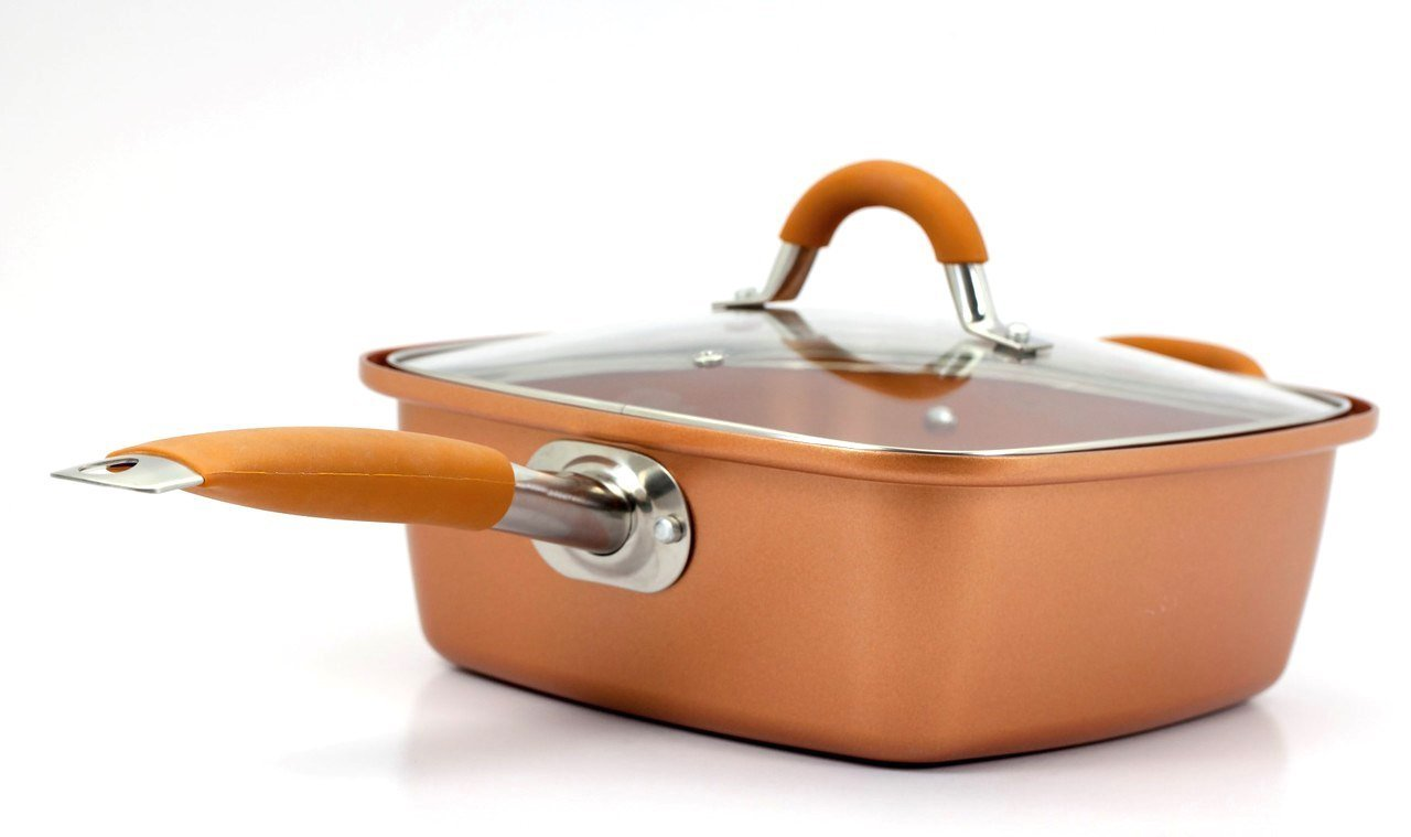 Red Copper Pan Seasoning Instructions |   Inventel SP-MC 2 SP-MC02 Square Copper Pan